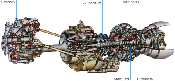 helicopter engine cutaway  helicopter  free engine image